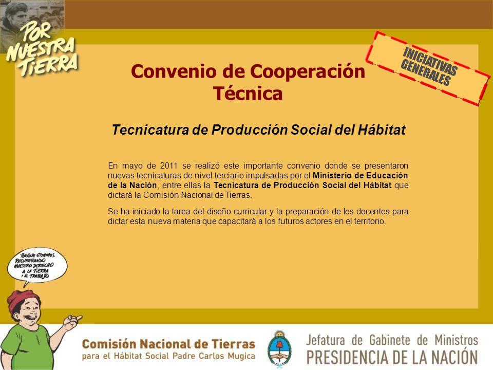 Convenio de Cooperación Técnica