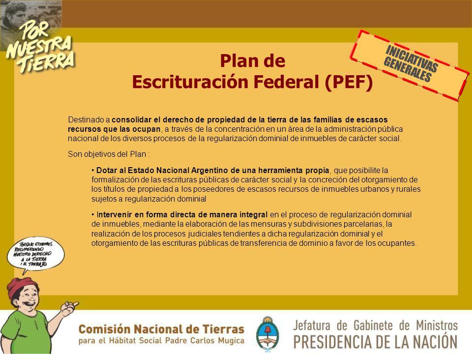 Plan de Escrituración Federal (PEF)