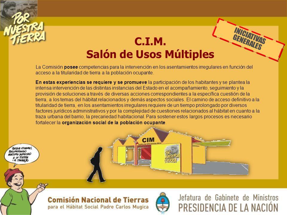 C.I.M. Salón de Usos Múltiples