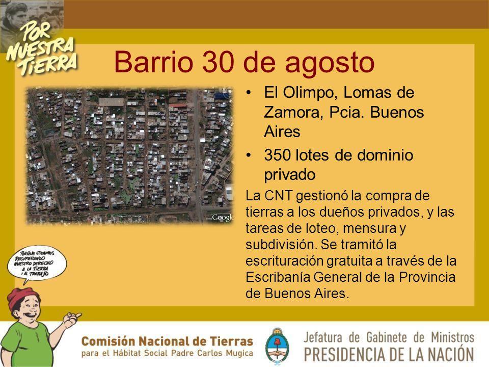 Barrio 30 de agosto El Olimpo, Lomas de Zamora, Pcia. Buenos Aires