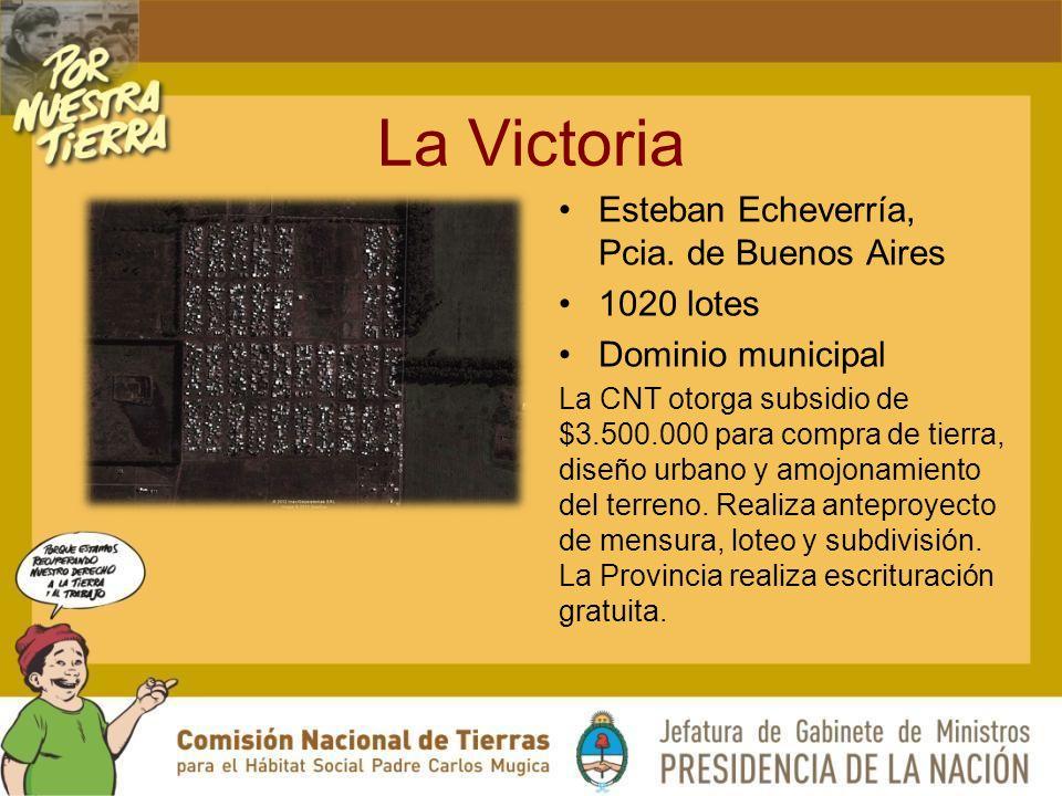 La Victoria Esteban Echeverría, Pcia. de Buenos Aires 1020 lotes