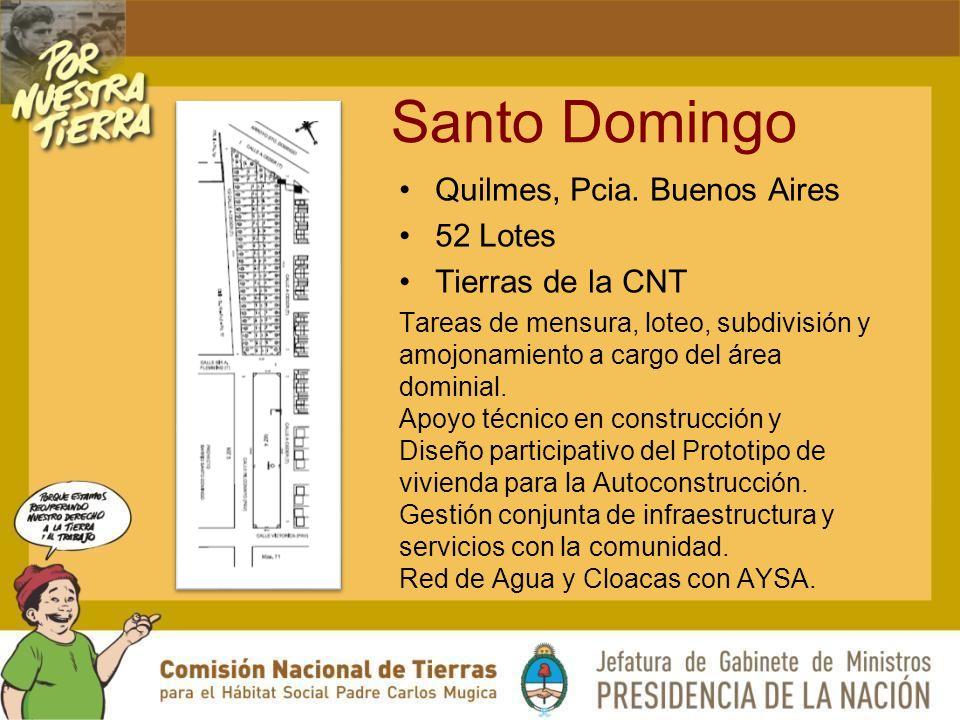 Santo Domingo Quilmes, Pcia. Buenos Aires 52 Lotes Tierras de la CNT