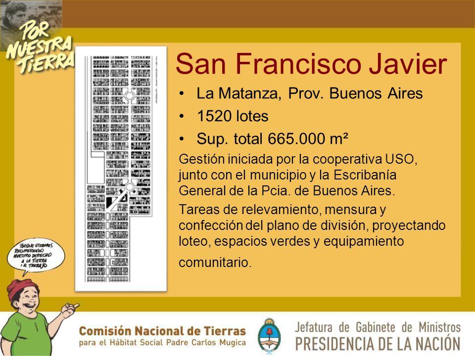 San Francisco Javier La Matanza, Prov. Buenos Aires 1520 lotes