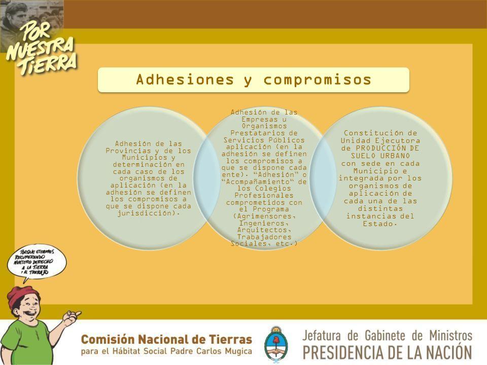Adhesiones y compromisos