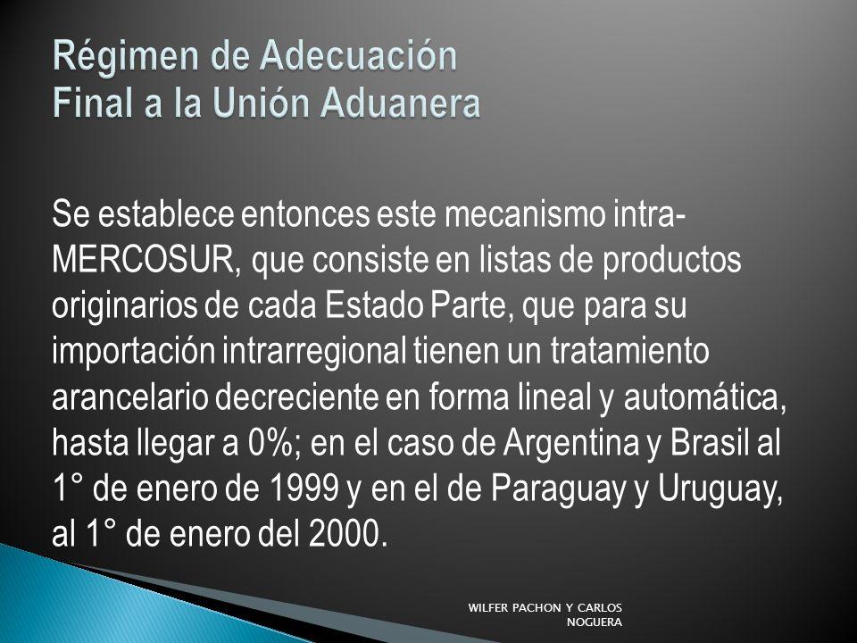 Régimen de Adecuación Final a la Unión Aduanera