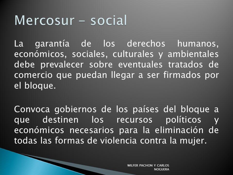 Mercosur - social