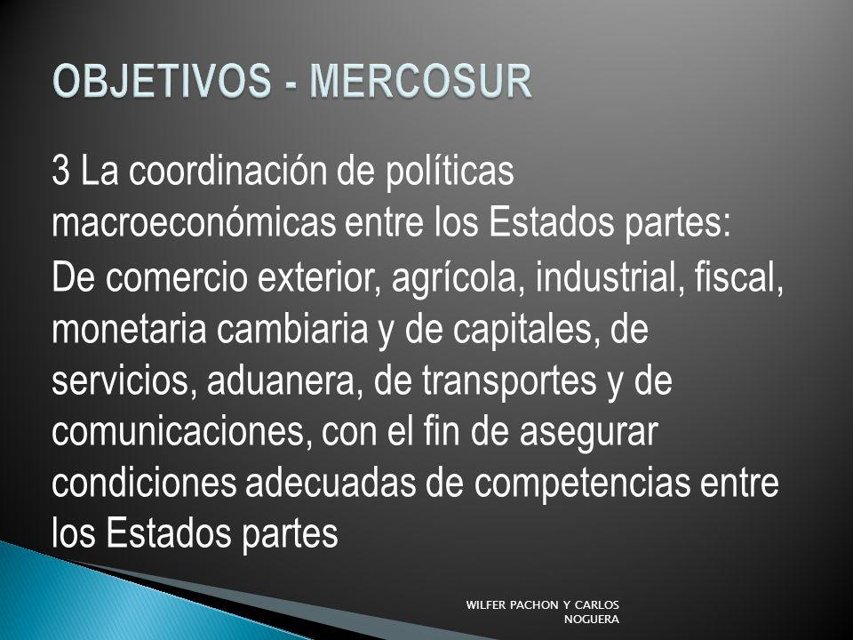 OBJETIVOS - MERCOSUR