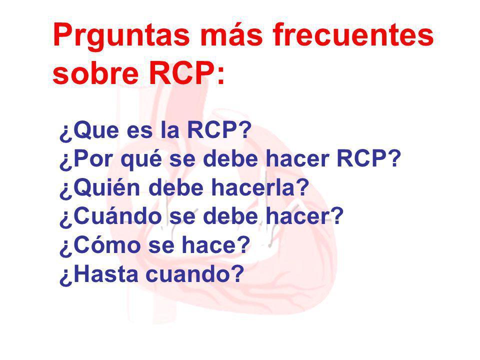 Prguntas más frecuentes sobre RCP: