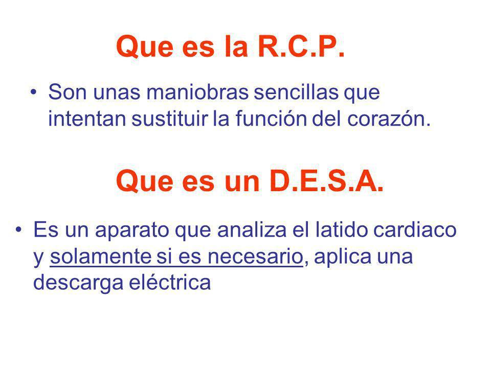 Que es la R.C.P. Que es un D.E.S.A.