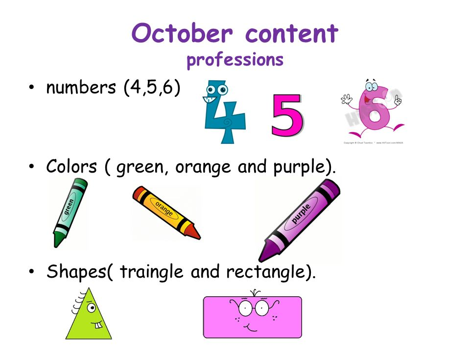 October content professions
