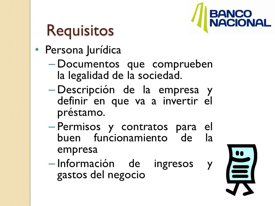 Requisitos Persona Jurídica