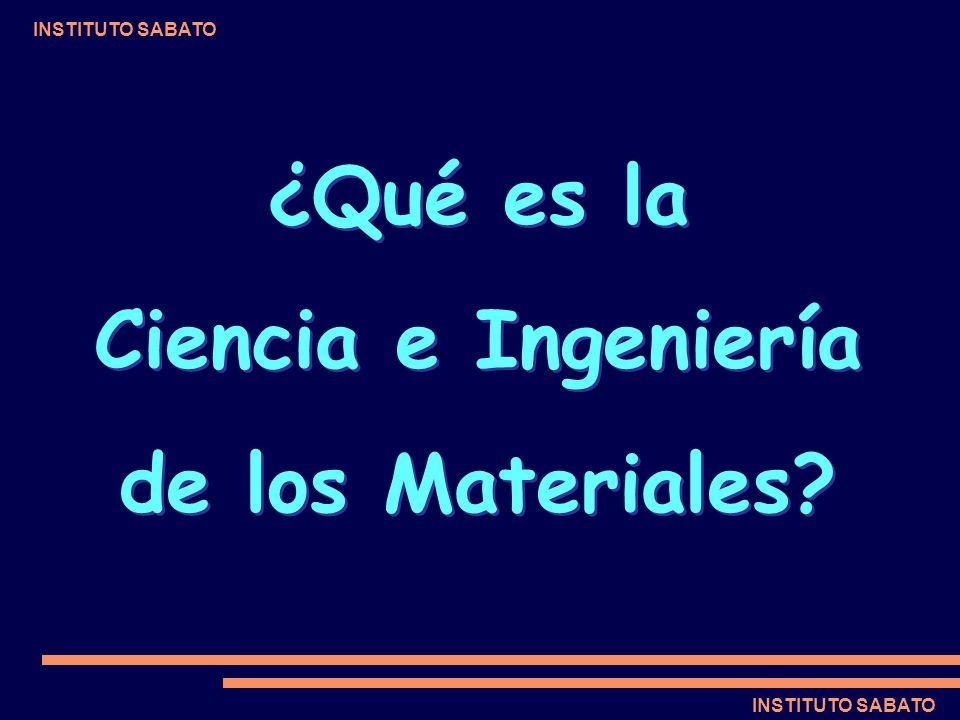 ¿Qué es la Ciencia e Ingeniería de los Materiales