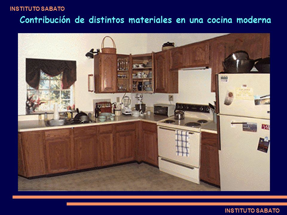 Contribución de distintos materiales en una cocina moderna