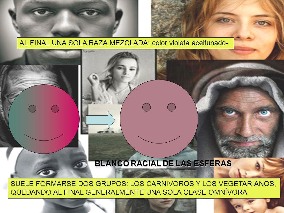 BLANCO RACIAL DE LAS ESFERAS