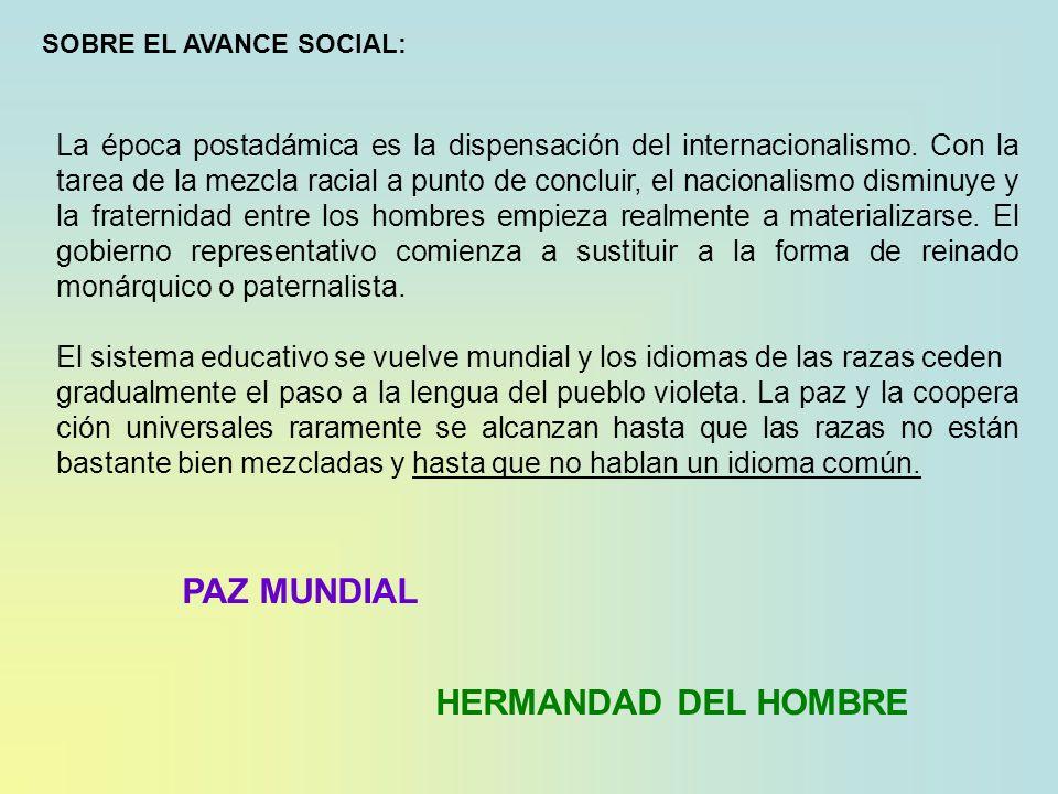 SOBRE EL AVANCE SOCIAL: