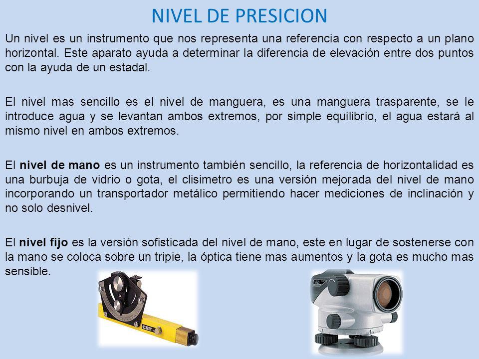 NIVEL DE PRESICION