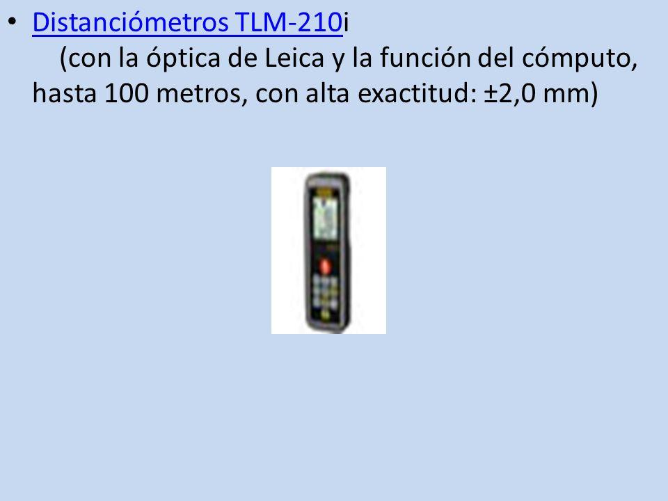 Distanciómetros TLM-210i (con la óptica de Leica y la función del cómputo, hasta 100 metros, con alta exactitud: ±2,0 mm)