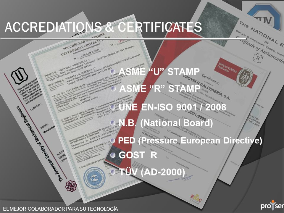 ACCREDIATIONS & CERTIFICATES