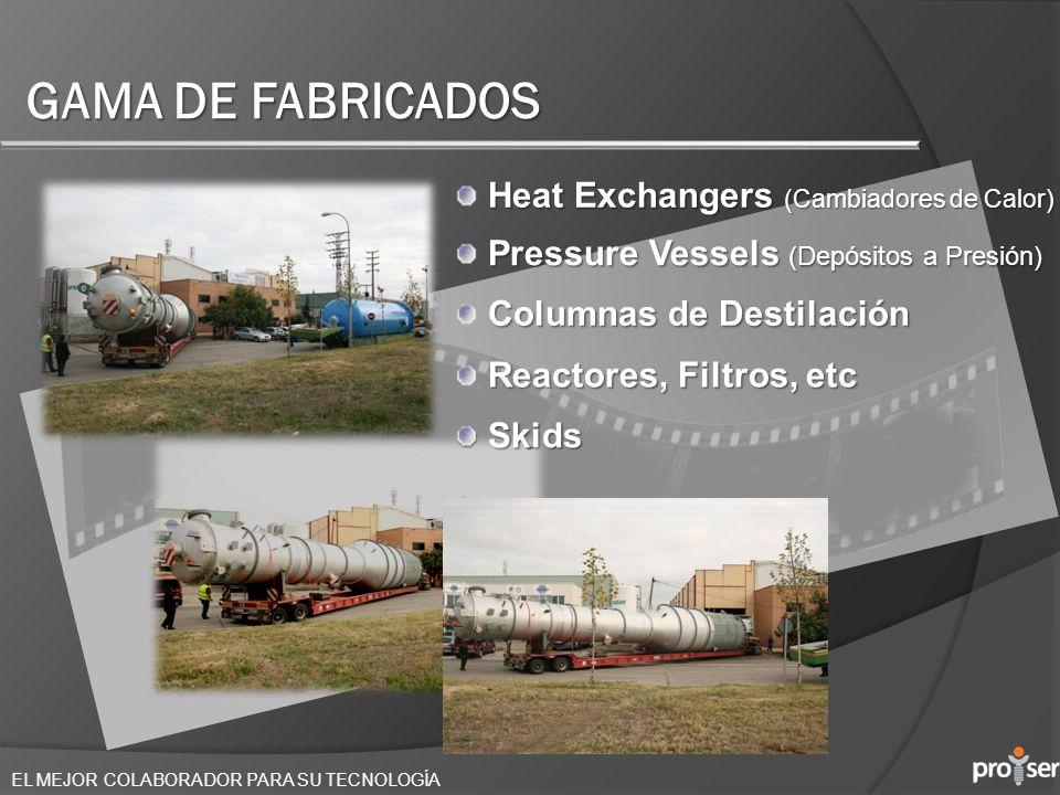 GAMA DE FABRICADOS Heat Exchangers (Cambiadores de Calor)