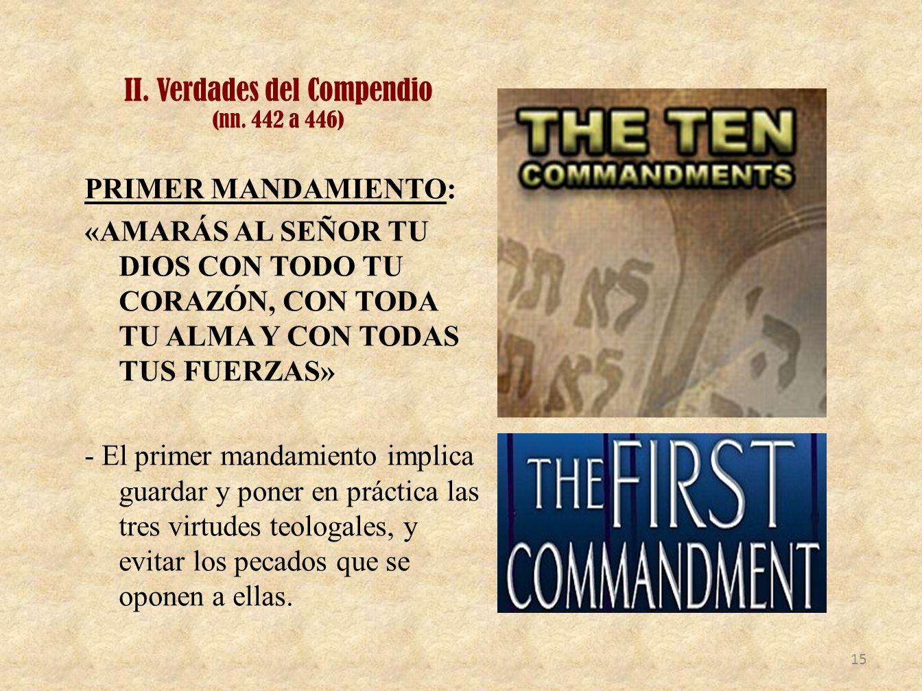 II. Verdades del Compendio (nn. 442 a 446)