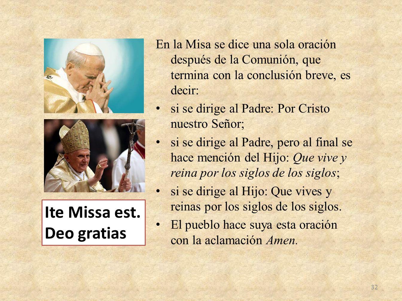 Ite Missa est. Deo gratias