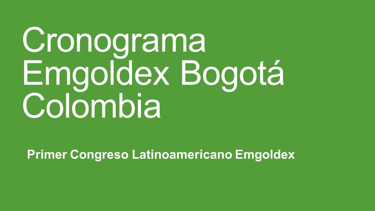 Cronograma Emgoldex Bogotá Colombia