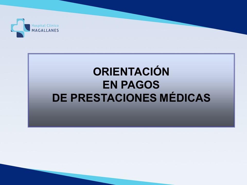 DE PRESTACIONES MÉDICAS