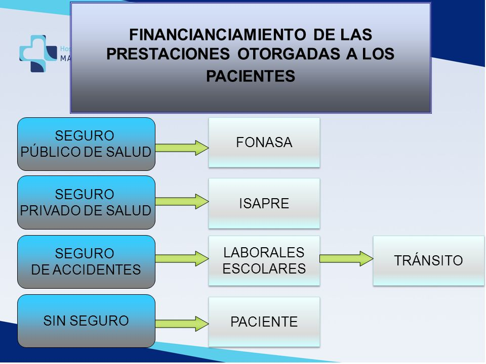 FINANCIANCIAMIENTO DE LAS PRESTACIONES OTORGADAS A LOS PACIENTES