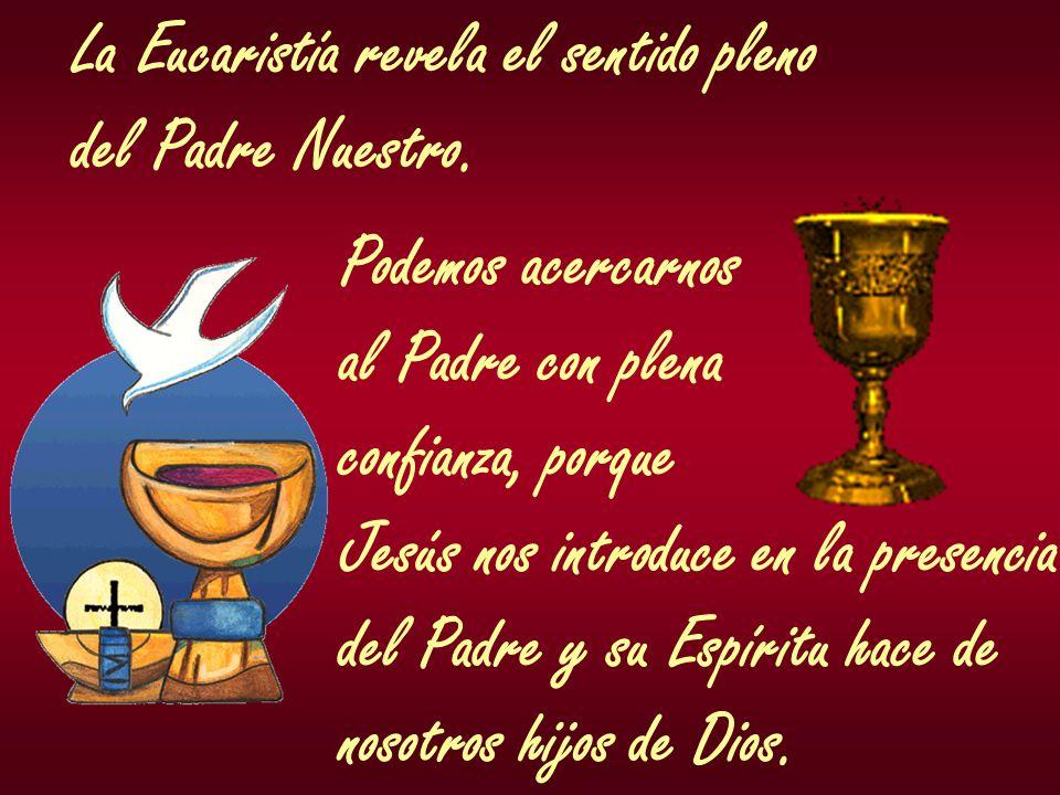 La Eucaristía revela el sentido pleno