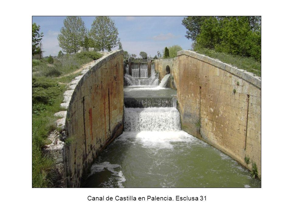 Canal de Castilla en Palencia. Esclusa 31