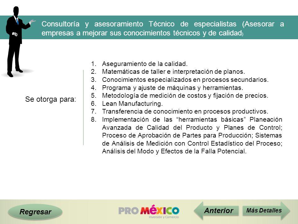 Consultoría y asesoramiento Técnico de especialistas (Asesorar a empresas a mejorar sus conocimientos técnicos y de calidad)
