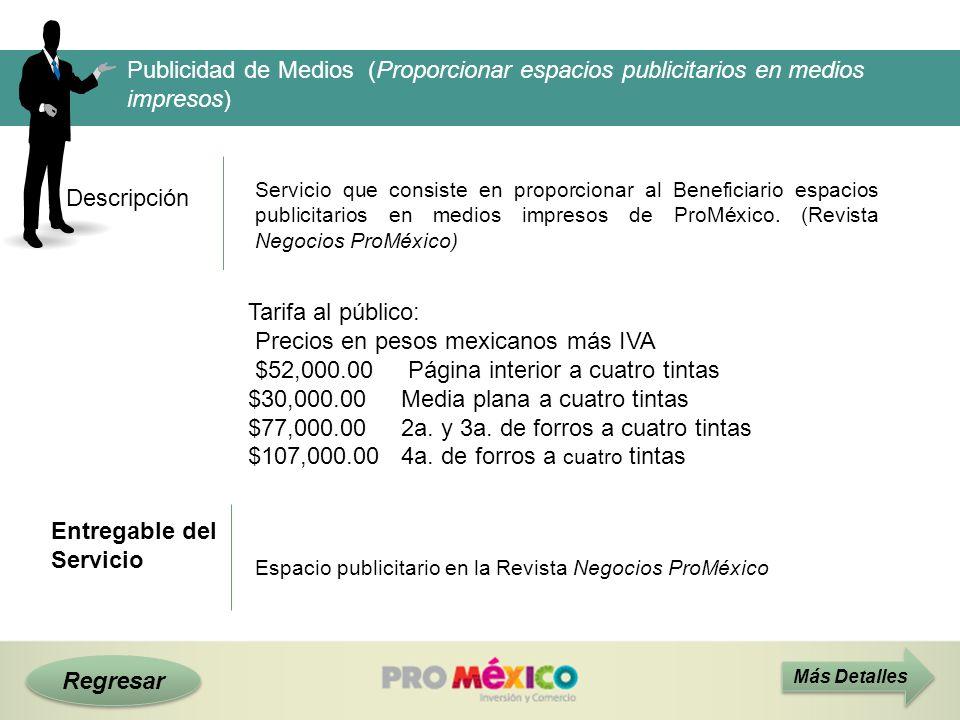 Precios en pesos mexicanos más IVA