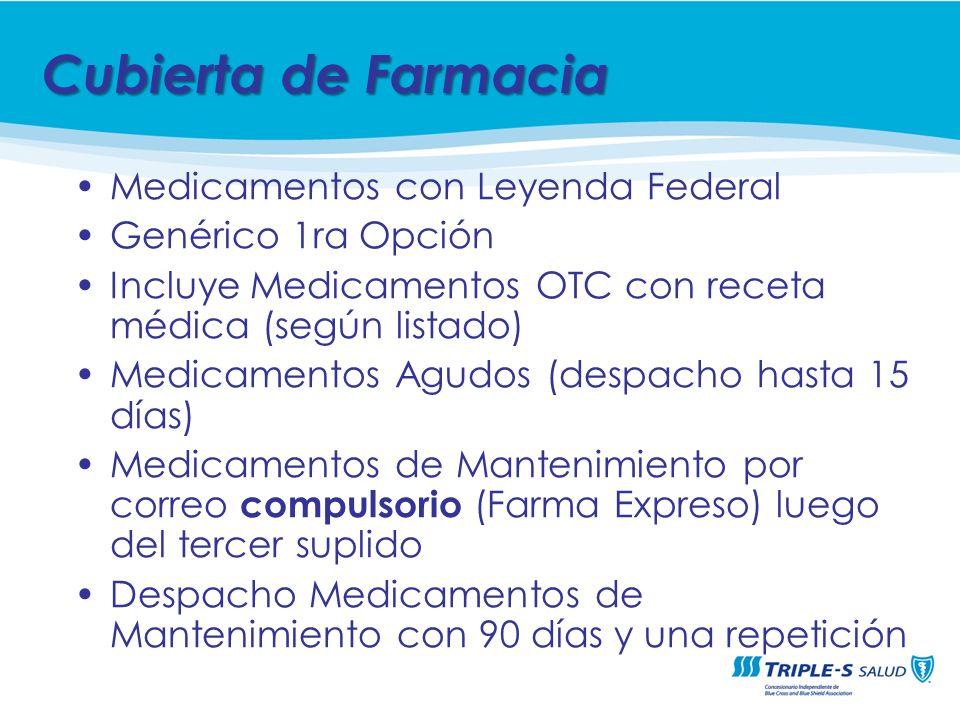 Cubierta de Farmacia Medicamentos con Leyenda Federal