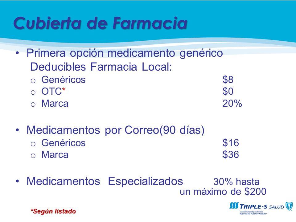 Cubierta de Farmacia Primera opción medicamento genérico
