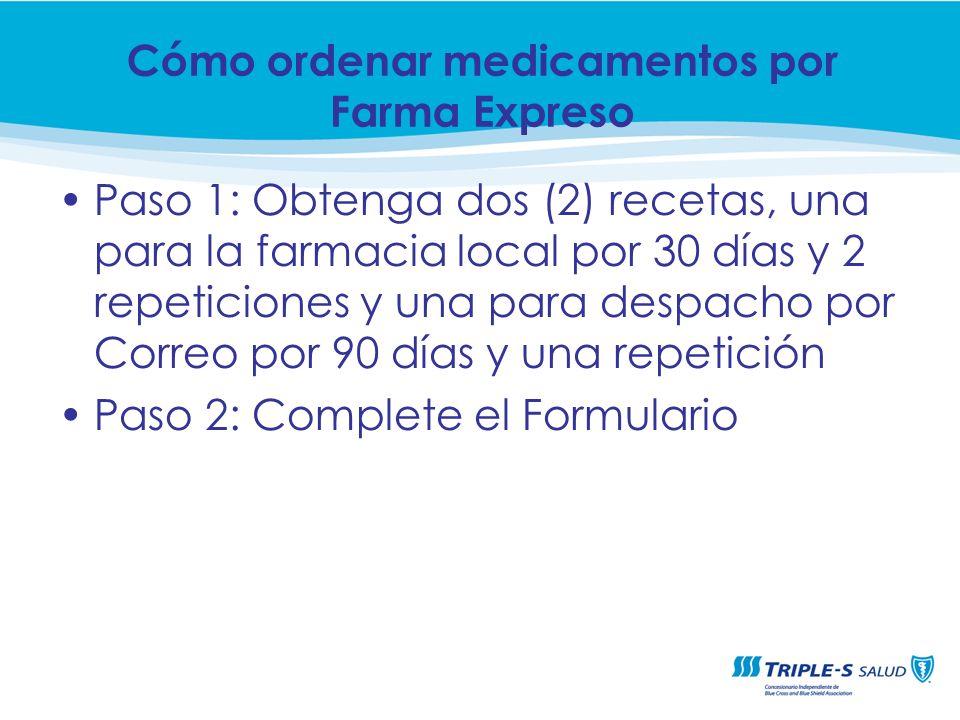Cómo ordenar medicamentos por Farma Expreso