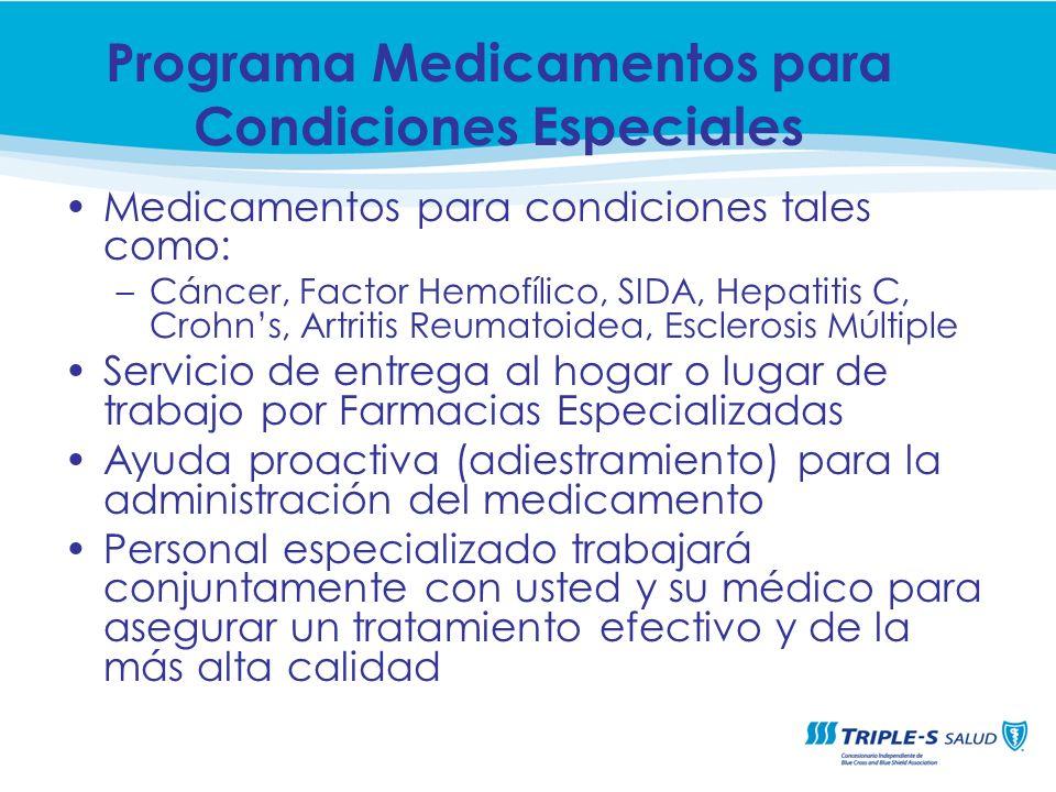 Programa Medicamentos para Condiciones Especiales