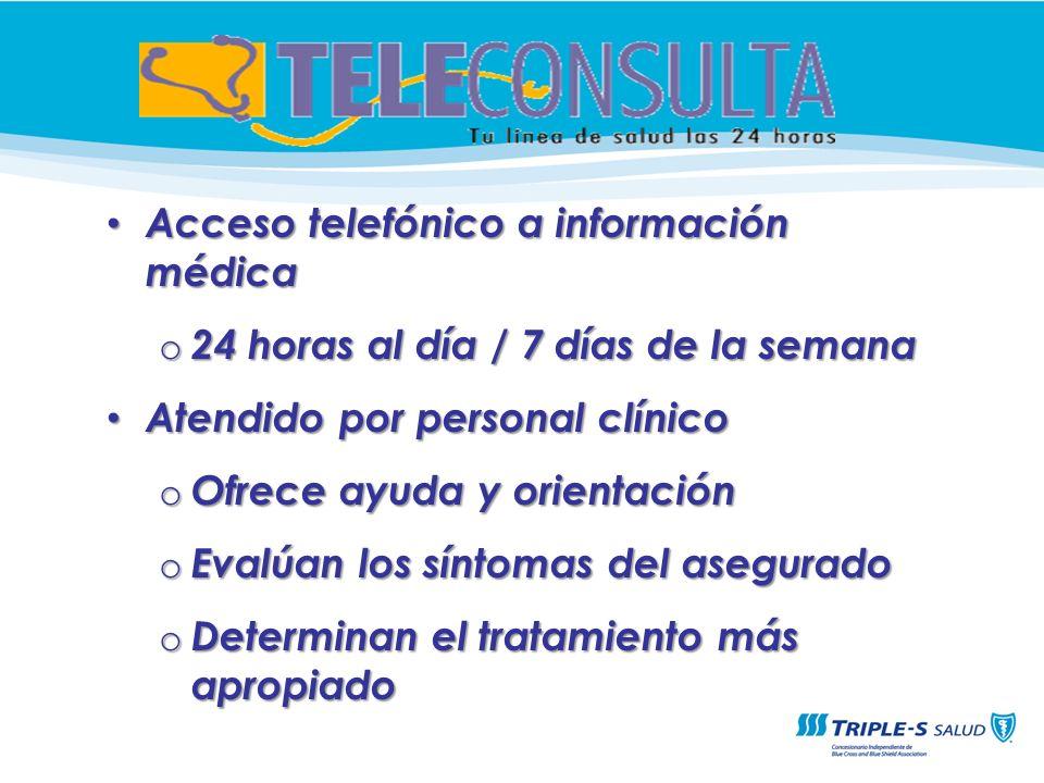 Acceso telefónico a información médica