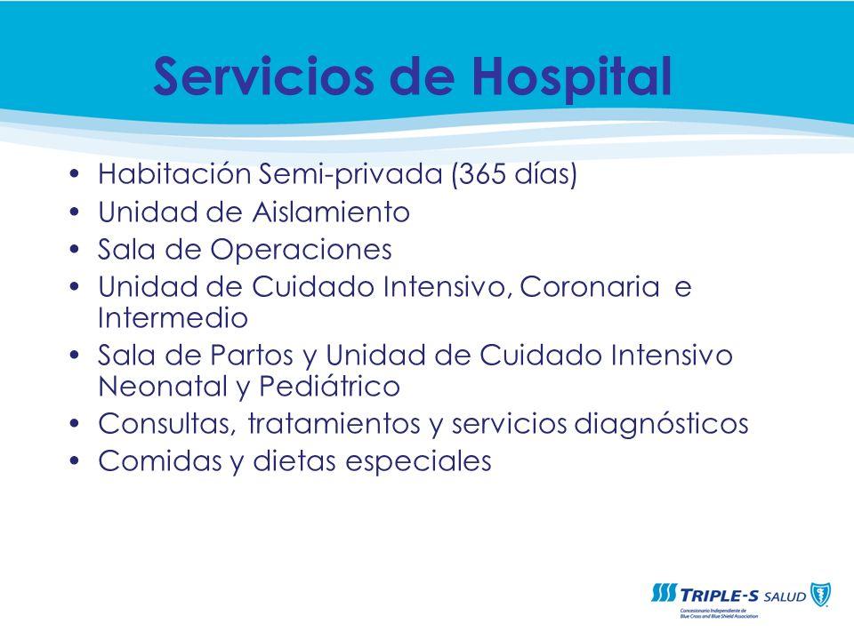 Servicios de Hospital Habitación Semi-privada (365 días)