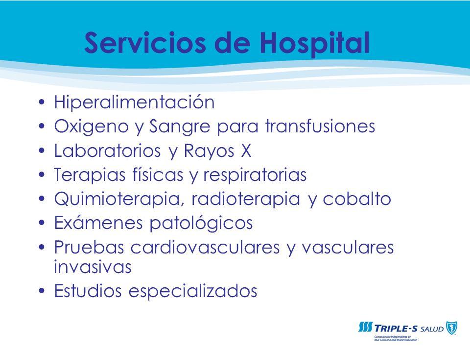 Servicios de Hospital Hiperalimentación