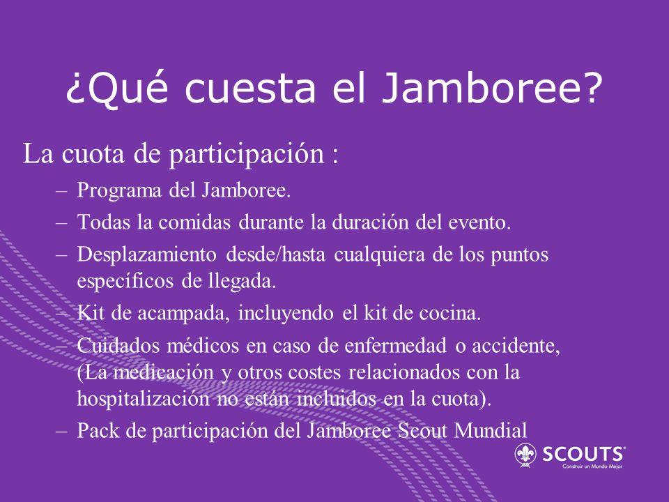 ¿Qué cuesta el Jamboree