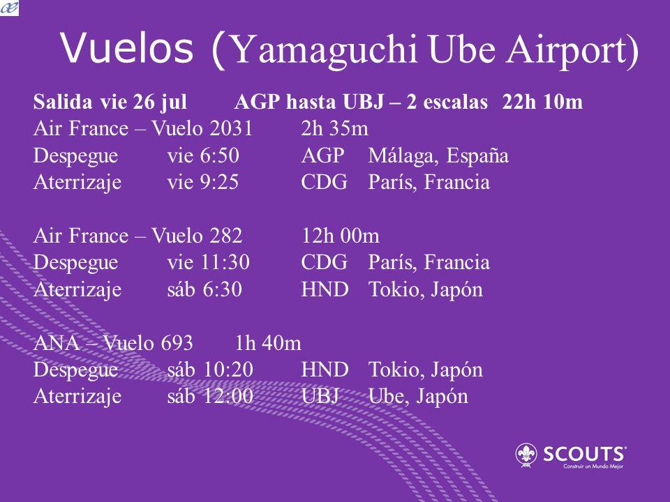 Vuelos (Yamaguchi Ube Airport)