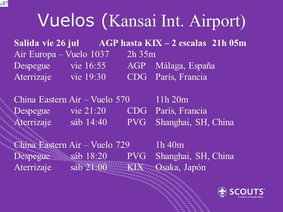 Vuelos (Kansai Int. Airport)