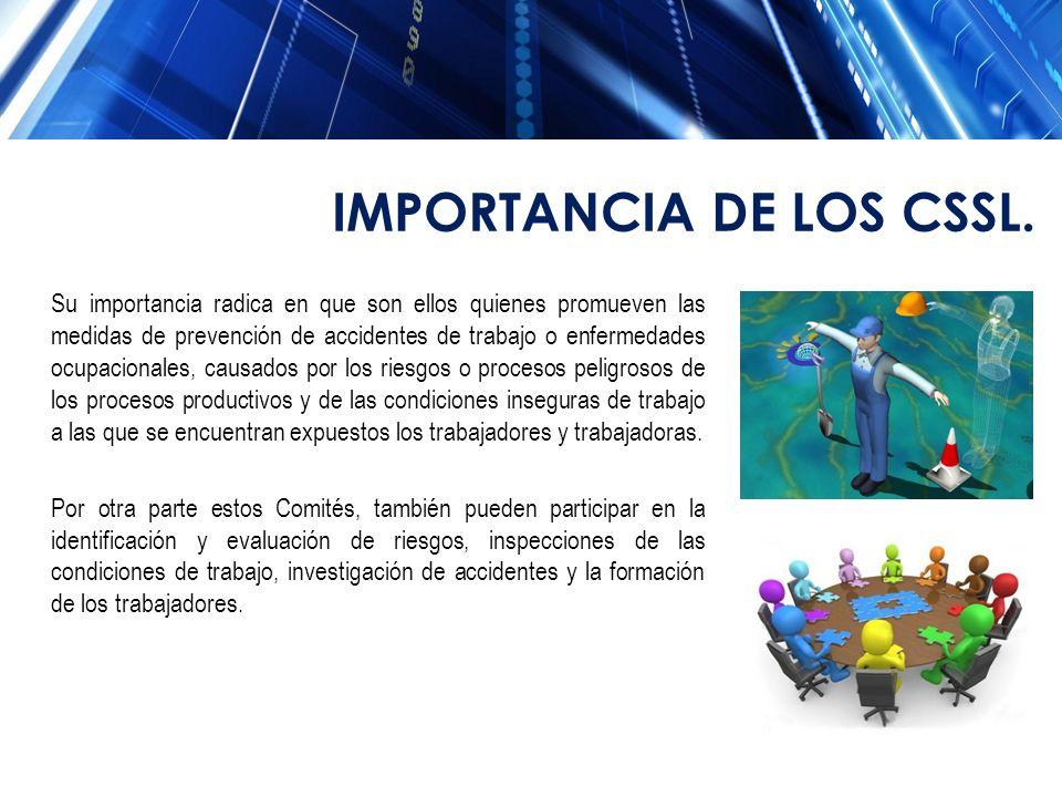 IMPORTANCIA DE LOS CSSL.