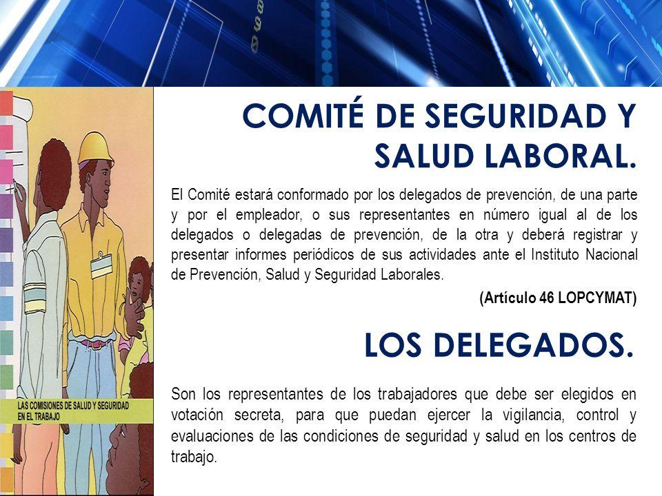 COMITÉ DE SEGURIDAD Y SALUD LABORAL.