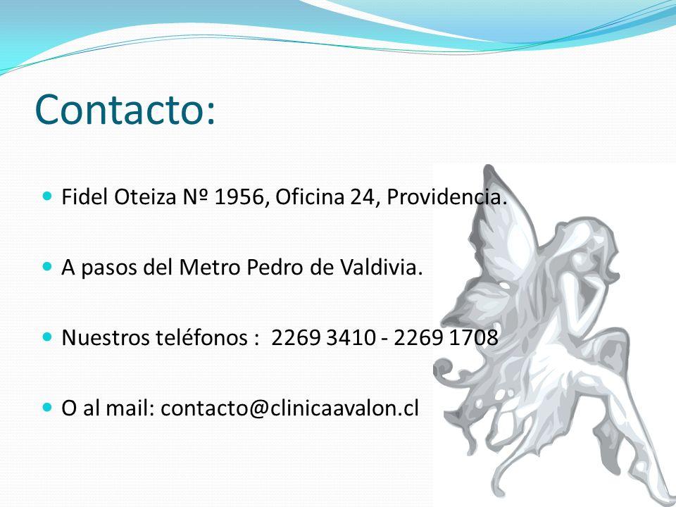 Contacto: Fidel Oteiza Nº 1956, Oficina 24, Providencia.