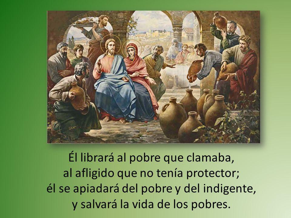 Él librará al pobre que clamaba, al afligido que no tenía protector; él se apiadará del pobre y del indigente, y salvará la vida de los pobres.