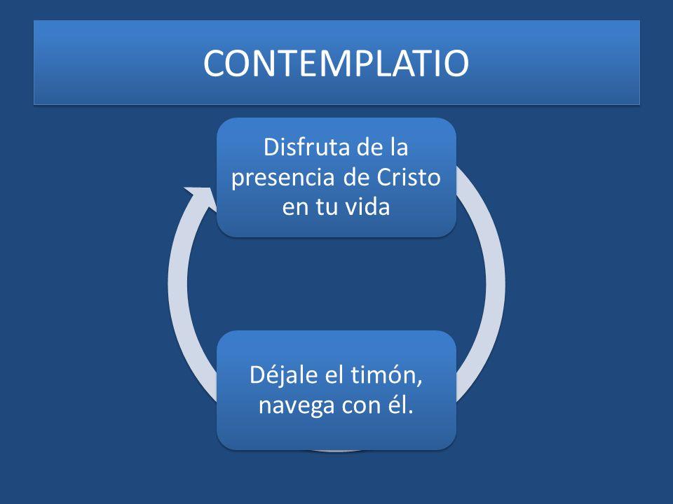 CONTEMPLATIO Disfruta de la presencia de Cristo en tu vida
