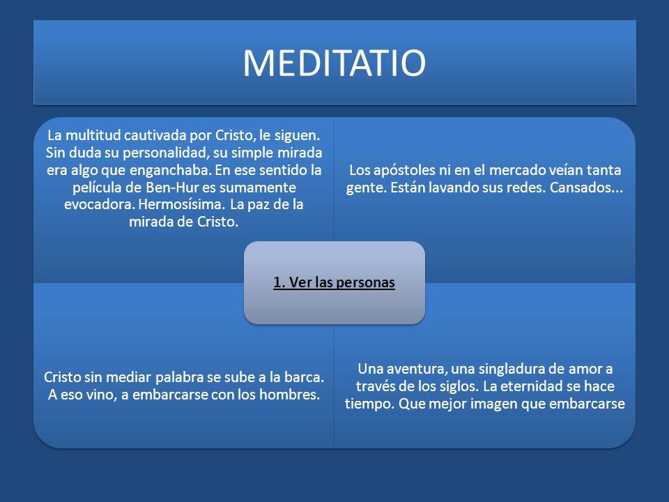 MEDITATIO 1. Ver las personas