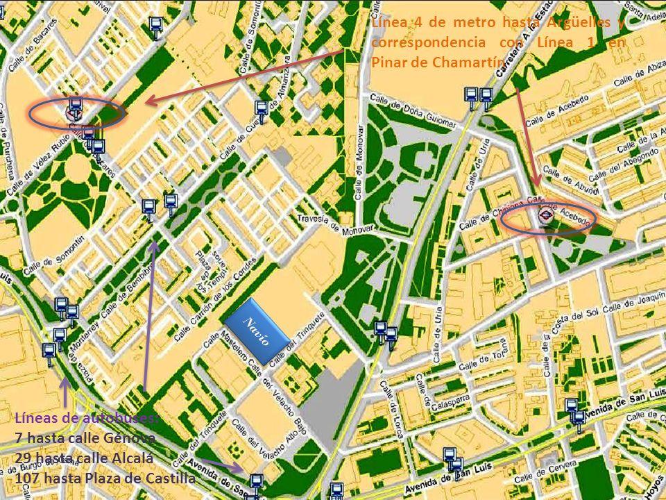 107 hasta Plaza de Castilla