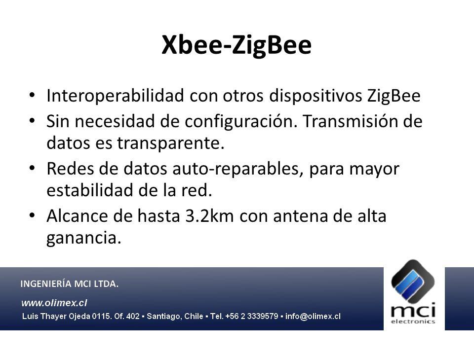 Xbee-ZigBee Interoperabilidad con otros dispositivos ZigBee